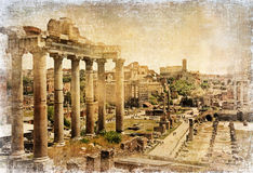 Ancient roman landmarks - Forums Stock Photo