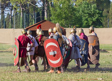 Ancient Roman Legionary Soldiers Royalty Free Stock Photo