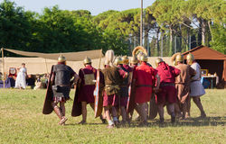 Ancient Roman Legionary Soldiers Royalty Free Stock Images