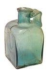 Ancient roman light blue green bottle Royalty Free Stock Photo