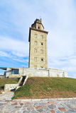 Ancient roman lighthouse Tower of Hercules, Spain Royalty Free Stock Photography