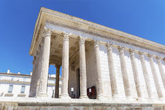 Ancient roman Maison Carree in Nimes, France Royalty Free Stock Images