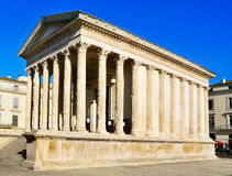 Ancient roman Maison Carree in Nimes, France Royalty Free Stock Photography