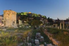 Ancient Roman Market Monastiraki Greece Stock Image