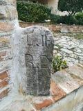 Roman milestone. Ancient roman milestone royalty free stock images