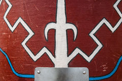 Ancient Roman military shield scutum Royalty Free Stock Images