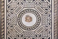 The ancient roman mosaic in Alcazar de los Reyes Cristianos cast Royalty Free Stock Images