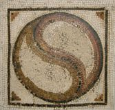 Ancient Roman mosaic Stock Images