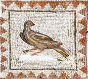 Ancient roman mosaic representing a dove, Sevilla. Ancient roman mosaic representing a dove from the archaeological site of Italica, near Sevilla. It was on the Stock Photography