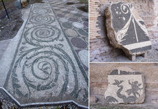 Ancient Roman Mosaic Tile Royalty Free Stock Image