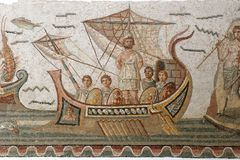 Ancient Roman mosaic tiles Royalty Free Stock Photos
