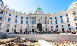 Ancient Roman outpost on Michaelerplatz in Vienna Royalty Free Stock Images