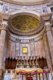 Ancient roman Pantheon temple, interior - Rome. Italy Stock Image