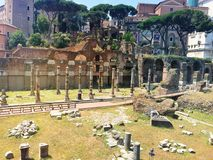 Ancient Roman part of the city of Rome. Italy Stock Photos