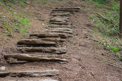 Ancient Roman path Royalty Free Stock Images