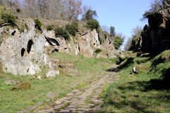 The ancient Roman road Amerina Royalty Free Stock Images