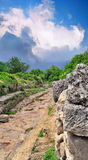 Ancient Roman road in the mountains Stock Photography