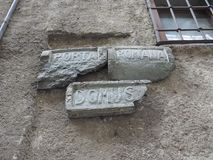 Ancient roman road sign in Donnas Royalty Free Stock Photography
