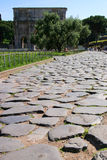 Ancient Roman Road Royalty Free Stock Photo