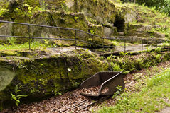 Ancient roman Ruin Stock Photo