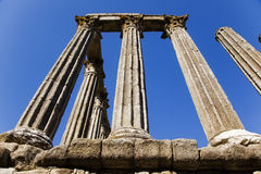 Ancient roman ruins. Over the blue sky Stock Images