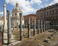 Ancient Roman Ruins - Colonnade Royalty Free Stock Images