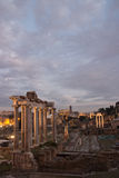 Ancient Roman ruins of Fori Imperiali Royalty Free Stock Photo