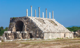 Ancient Roman ruins of Hippodrome in Lebanon Stock Image