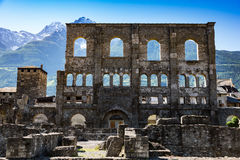 Free Ancient Roman Ruins In The City Of Aosta, Italy Stock Images - 66252444