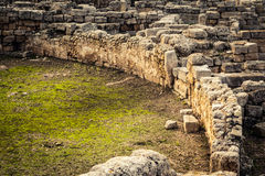 Ancient Roman ruins royalty free stock photo