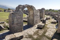 Ancient Roman ruins near town Split in Croatia Stock Photography