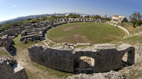 Ancient Roman ruins near town Split in Croatia Royalty Free Stock Image