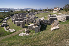 Ancient Roman ruins near town Split in Croatia Stock Photo