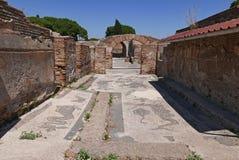 Ancient Roman ruins in Ostia Antica, Italy stock photos
