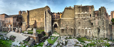 Ancient Roman ruins in Rome, ROME. royalty free stock images