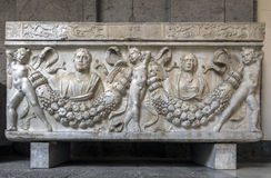 Ancient Roman sarcophagus Stock Photo