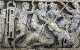 Ancient Roman sarcophagus Royalty Free Stock Images