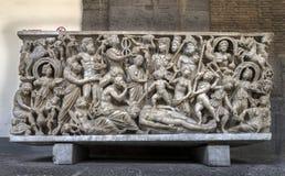 Ancient Roman sarcophagus Stock Photos