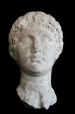 Ancient Roman Sculpture on black isolated Stock Images