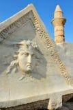 Ancient Roman sculpture at Caesarea Royalty Free Stock Image