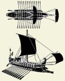 The Ancient Roman Ship Vector 04. The Ancient Roman Ship Isolated Illustration Vector Royalty Free Stock Photography