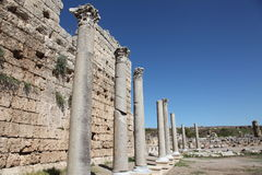 Ancient Roman site in Perge, Turkey Royalty Free Stock Photography