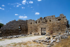 Ancient Roman site in Perge, Turkey Royalty Free Stock Photos