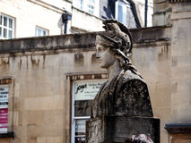 Ancient Roman soldier sculpture in Bath, UK Royalty Free Stock Photos