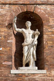 Ancient Roman Statue in Brick Wall Alcove Royalty Free Stock Photos