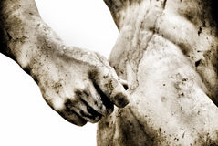 Ancient roman statue with some grain added Stock Image
