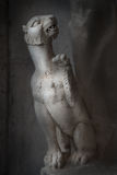 Ancient Roman statue of young lion in Rome in dark background Stock Photography