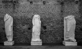 Ancient Roman statues royalty free stock images
