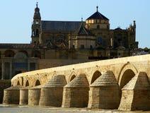 Ancient Roman Stone Bridge stock photos