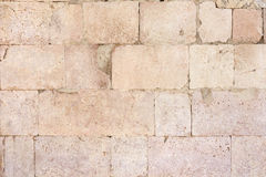 Ancient roman stone wall background Royalty Free Stock Photos